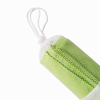 solid color Portable sports towel with mesh bag